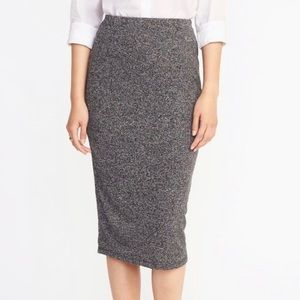 NWOT Old Navy Heather Grey Midi Pencil Skirt